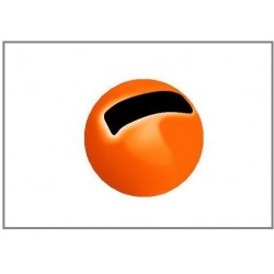 Tungsten Beads Sloted - Fluo Orange