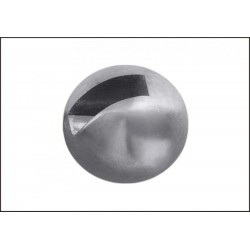 Tungsten Hlavička s drážkou - Stříbrná